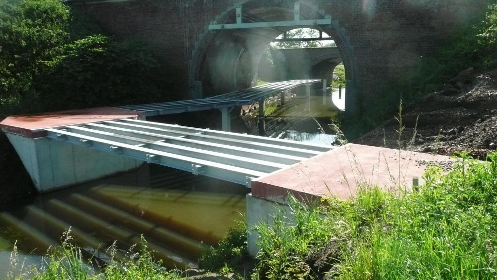 June 2014: steel construction of the bridge. Photo credit: Provincie Antwerpen.