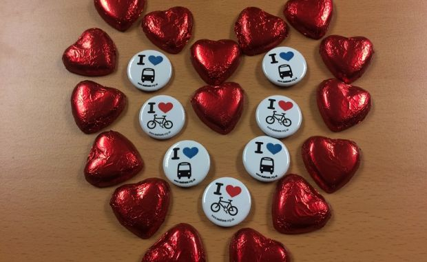 CHIPS' Love is in the air campaign thanks cycling commuters on